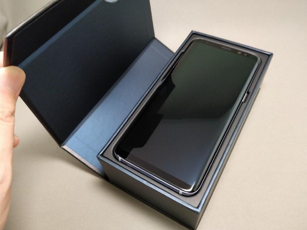 Galaxy S8 化粧箱 開封