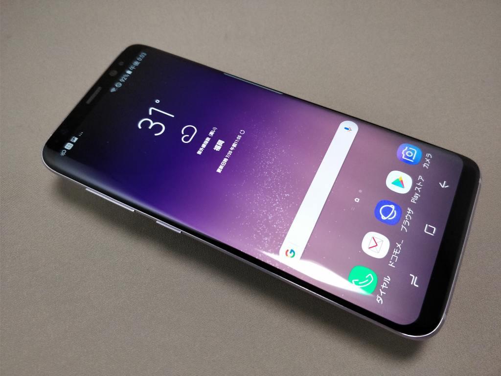 Galaxy S8 表 斜め2
