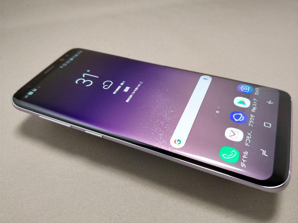 Galaxy S8 表 斜め