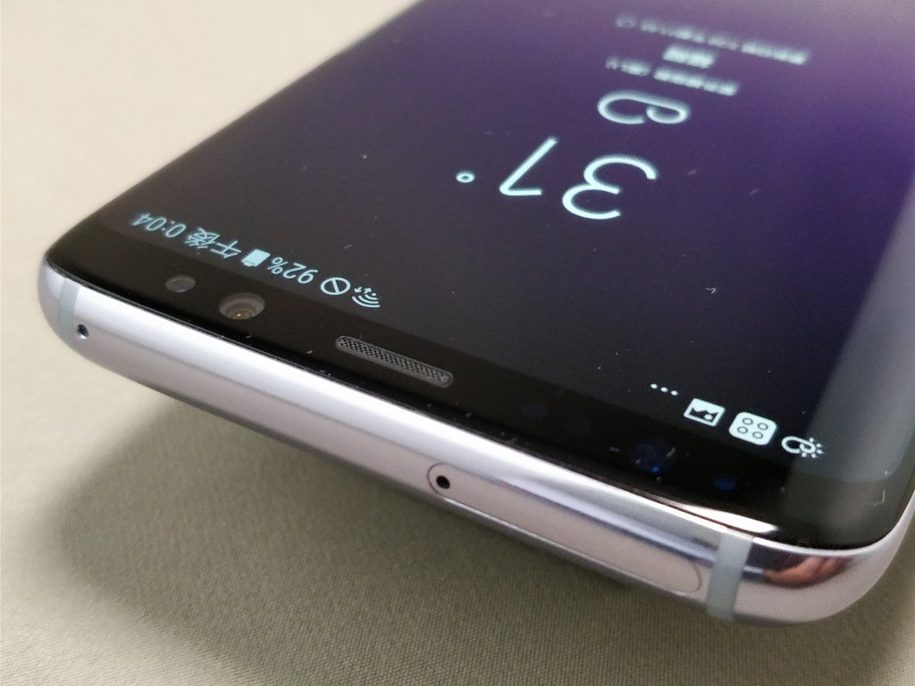 Galaxy S8 表 SIMスロット