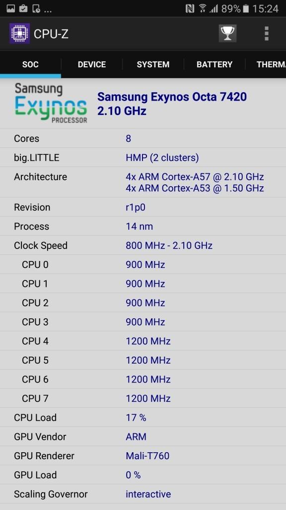 Galaxy Note 5 a1 CPU-Z1
