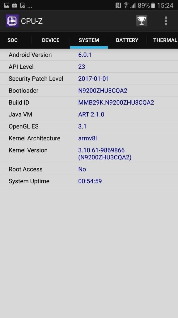 Galaxy Note 5 a1 CPU-Z3