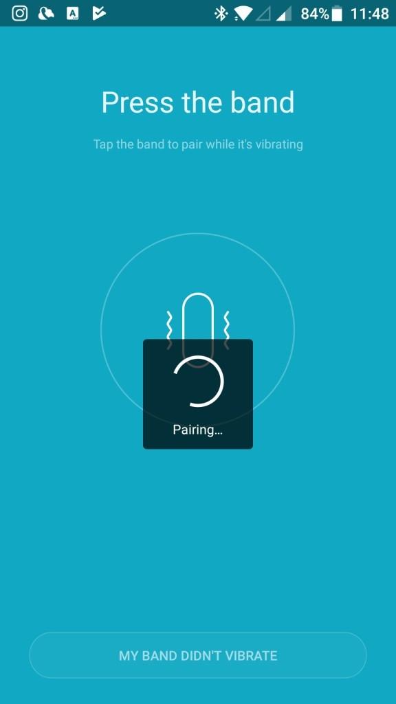 Xiaomi Amazfit A1603 スマートバンド ペアリング タップする