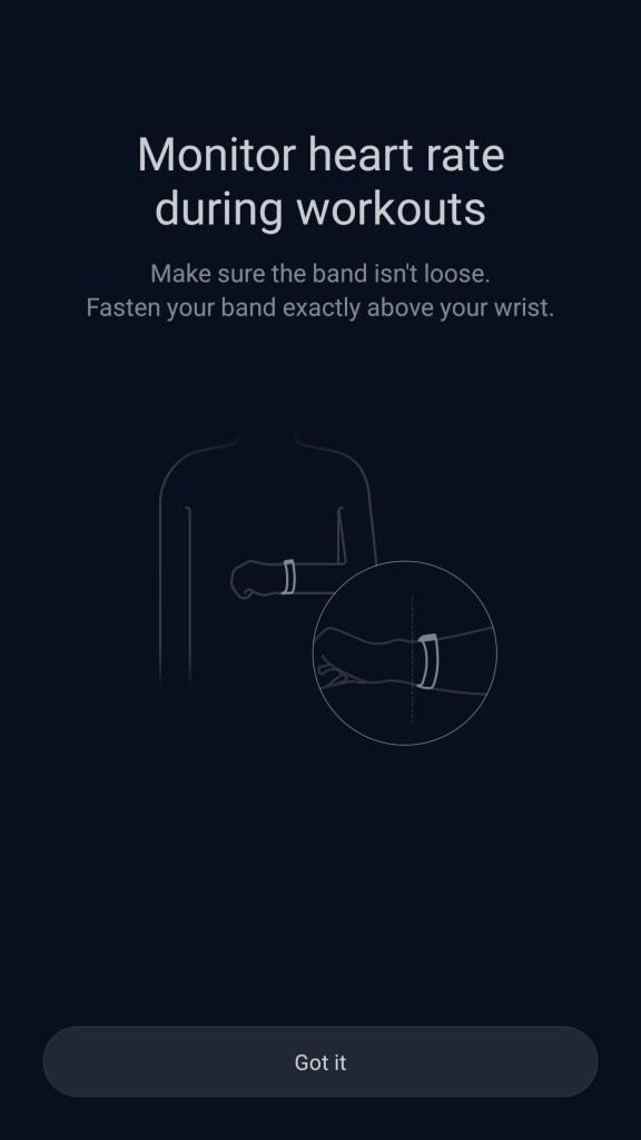 Xiaomi Amazfit A1603 スマートバンド 心拍測る時はバンドを胸のあたりに