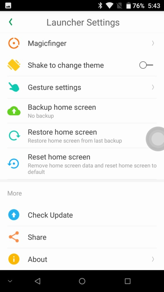 DOOGEE MIX Launcher Settings2