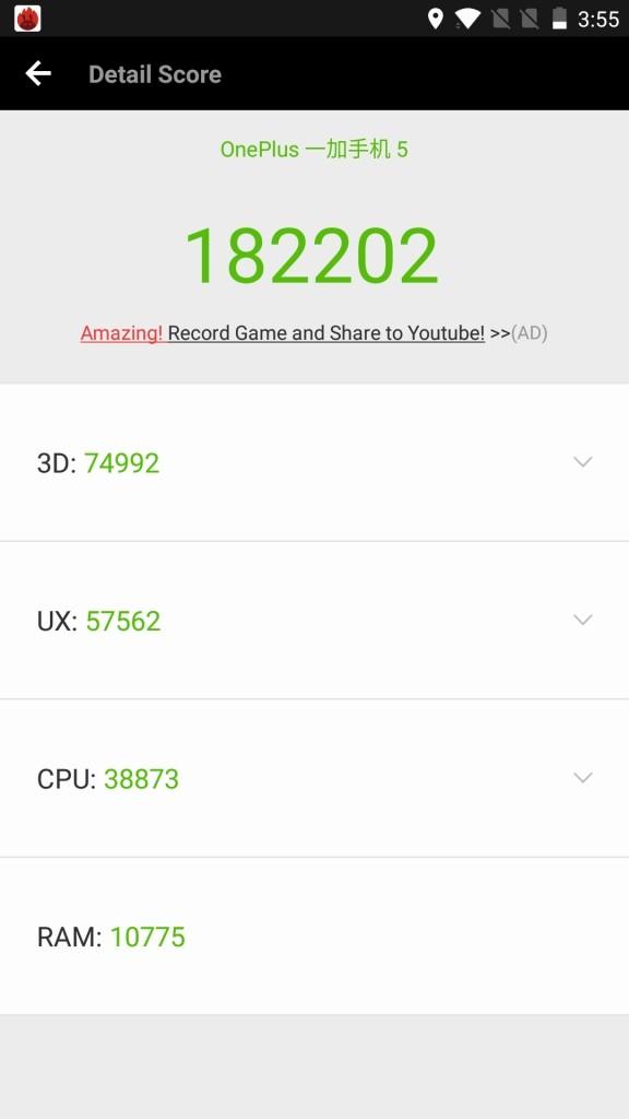OnePlus5 Antutu182202