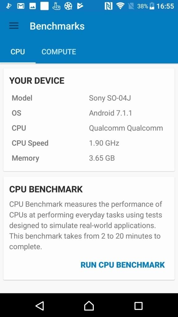 Xperia XZ Premium Geekbench