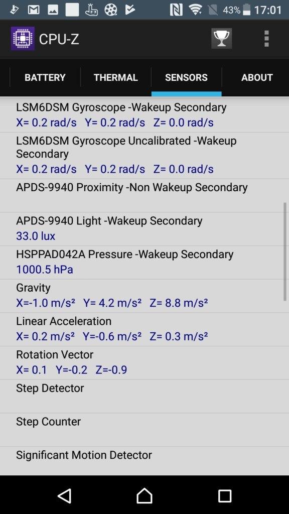Xperia XZ Premium CPU-Z 9