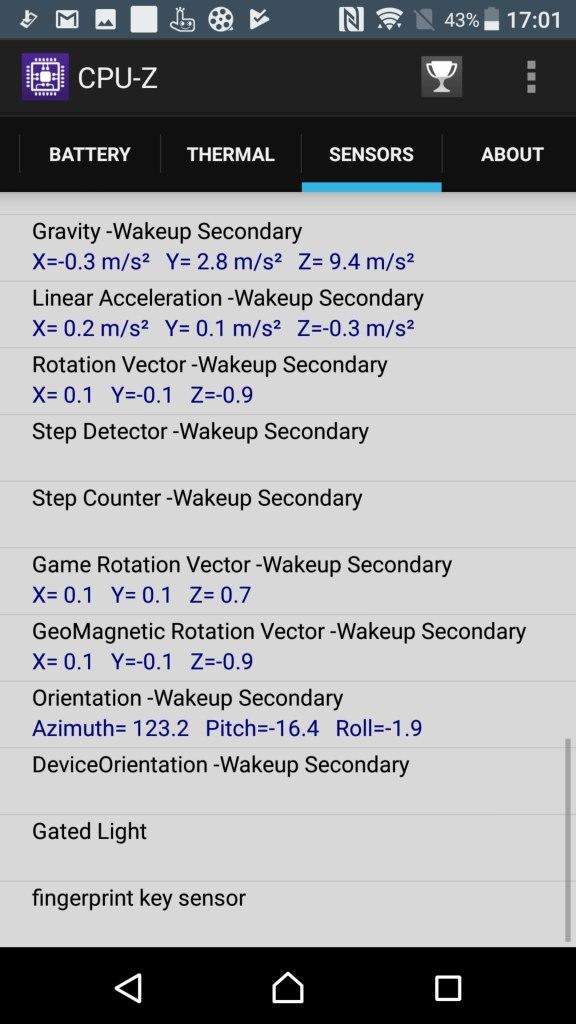 Xperia XZ Premium CPU-Z 10