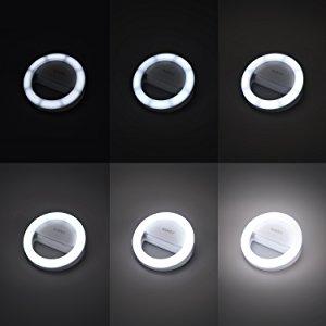 AUKEY LED リングライト 点灯 6段階