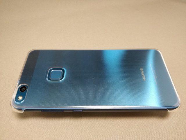 Huawei P10 Lite 裏 ケース装着 横