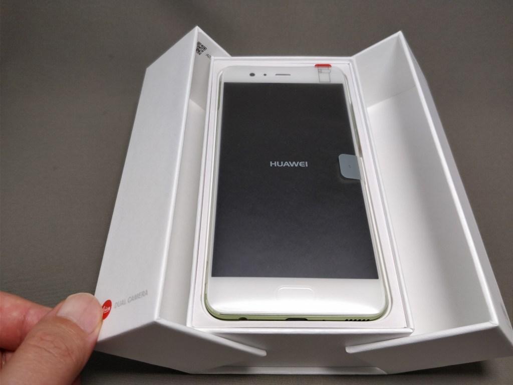 Huawei P10 Plus 化粧箱 開封 観音開き