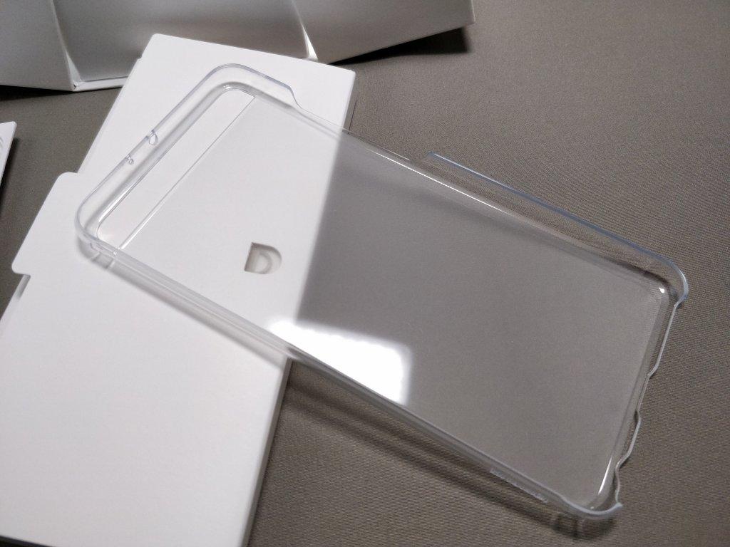 Huawei P10 Plus 化粧箱 付属品 保護ケース 内側