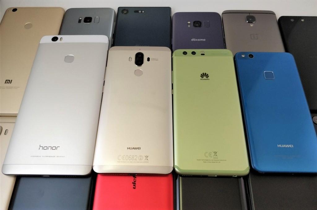 Huawei 4機種 斜め