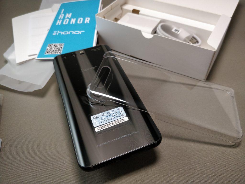 Huawei Honor 9 化粧箱 開封 付属品