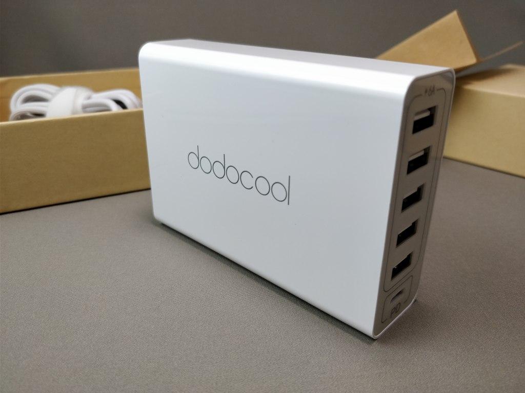 dodocool 60W 6ポート USB急速充電器 左
