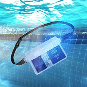 AUKEY 防水ポーチ ケース ブラックと透明 PC-T12 水没
