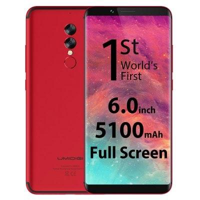 gearbest UMIDIGI S2 MTK6757 Helio P20 2.3GHz 8コア RED(レッド)