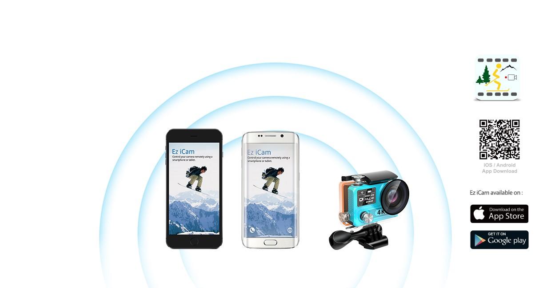 EKEN H8s 4K アクションカメラ アプリ