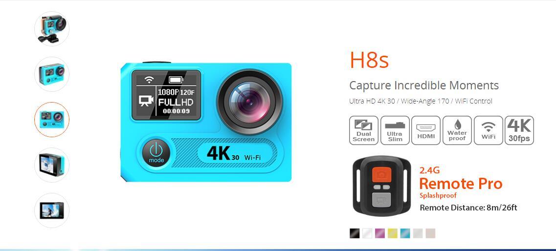 EKEN H8s 4K アクションカメラ  構造2