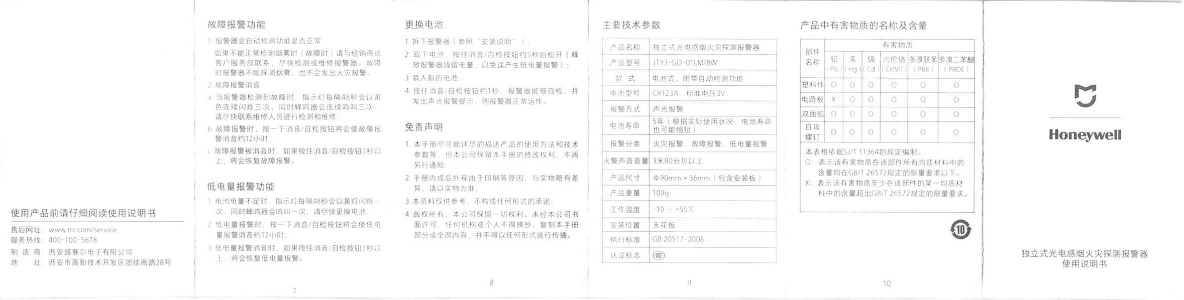 Xiaomi MiHome Honeywell Fire Smoke Alarm Detector Remote Alert Photoelectric Smoke Sensor4