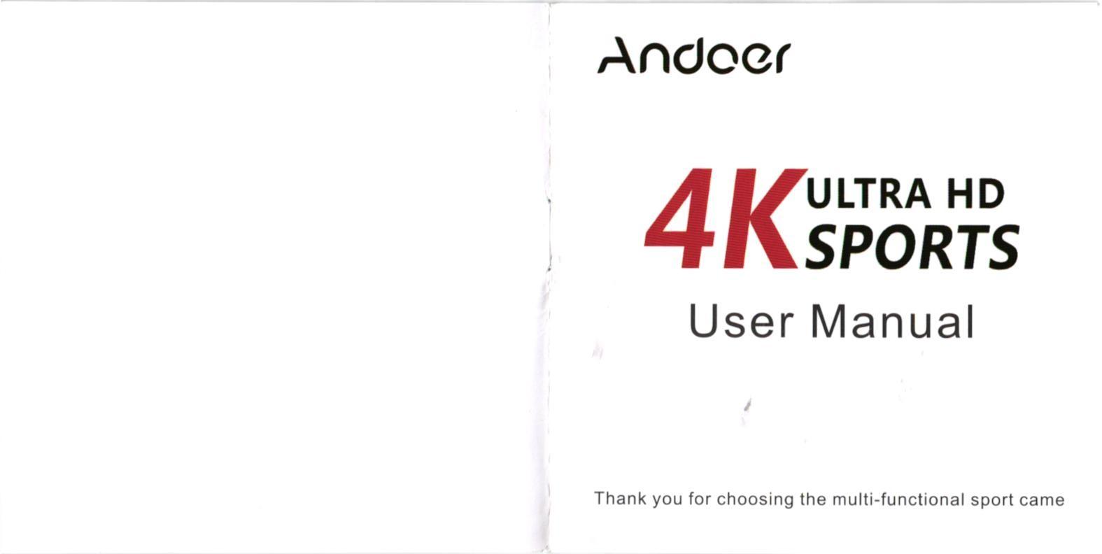 Andoer 4K Ultra HD sports camra 1