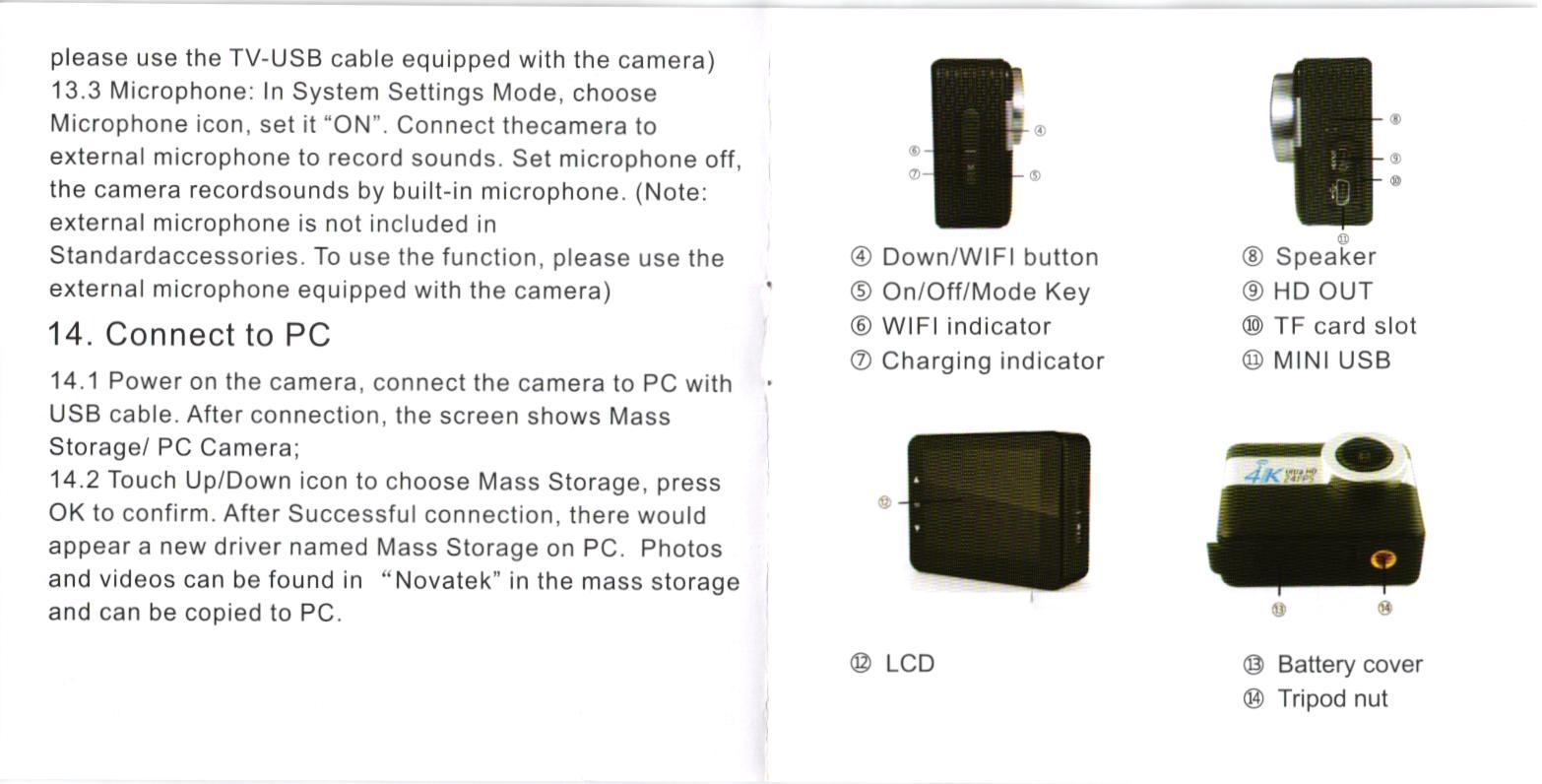 Andoer 4K Ultra HD sports camra 6
