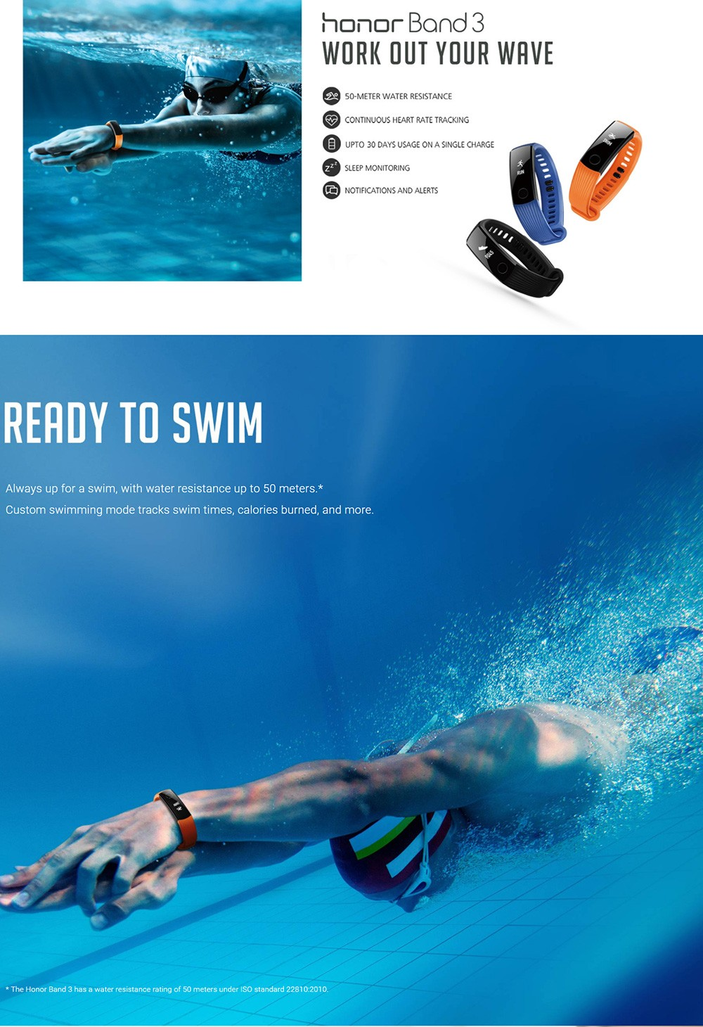 Huawei-Honor-Band-3 商品画像 水泳