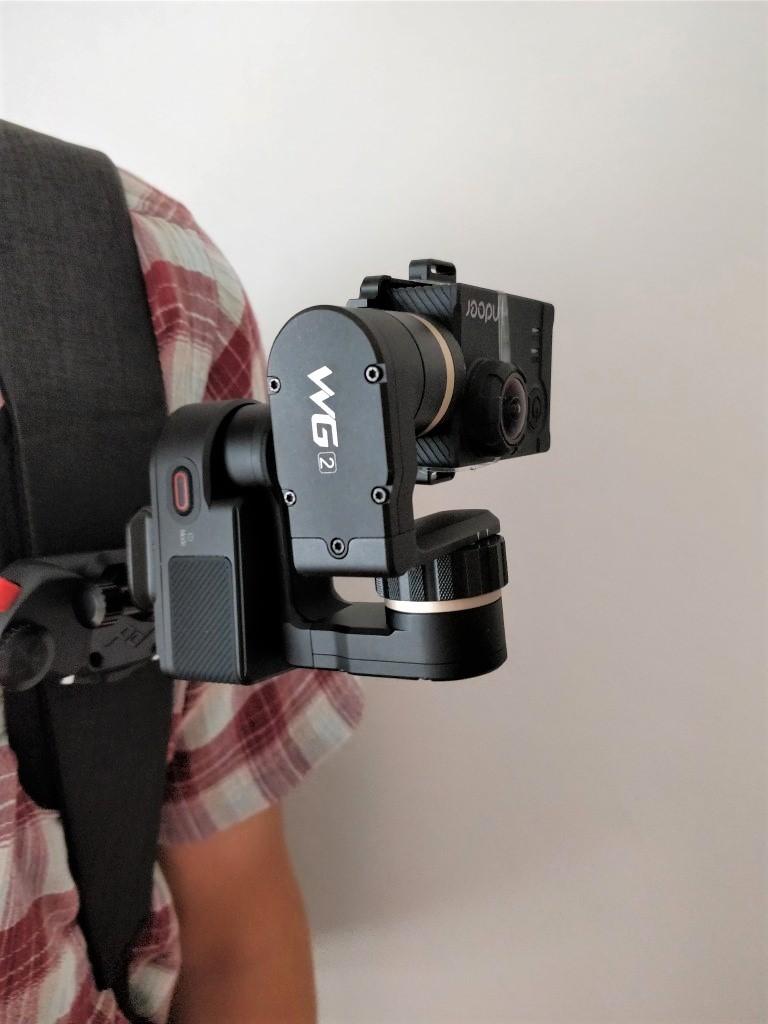 Capture POV+FeiyuTech WG2+アクションカメラ装着 斜め2