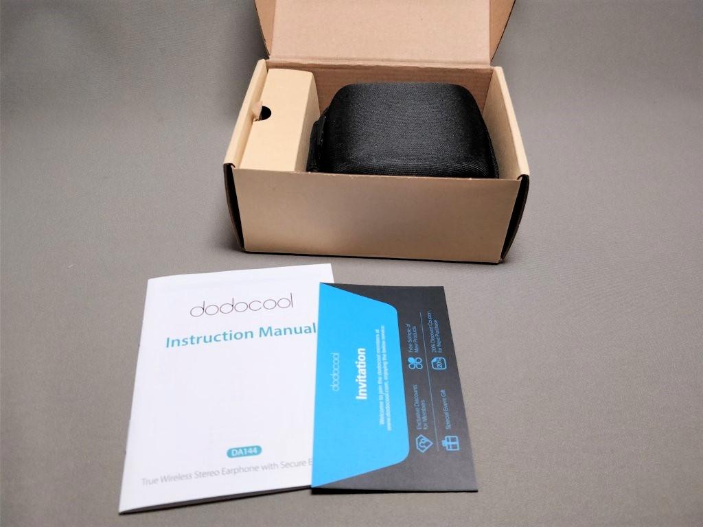 dodocool 完全独立IPX5スポーツイヤホン 化粧箱 開封