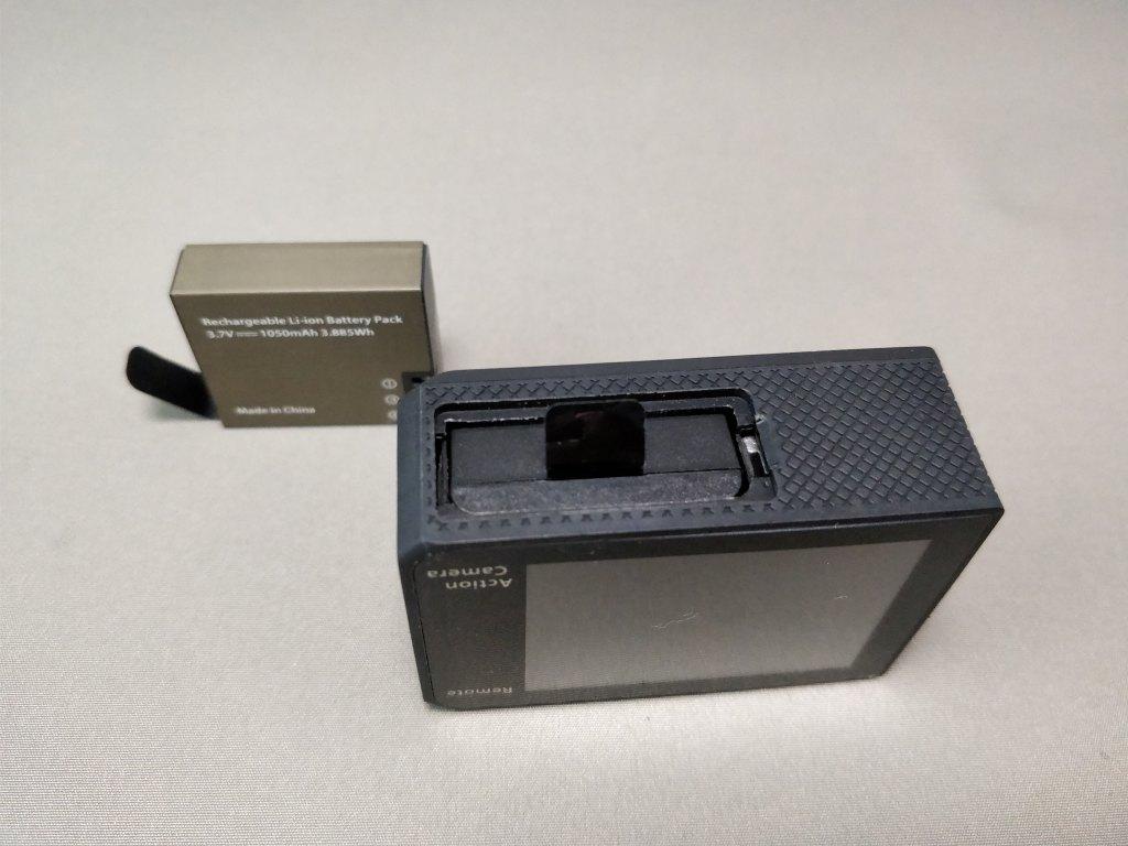 EKEN H8s 4K アクションカメラ 予備バッテリー 互換性あり
