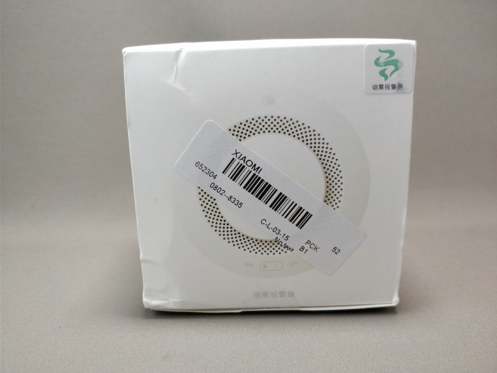 Xiaomi MiHome Honeywell 煙センサー 化粧箱 表