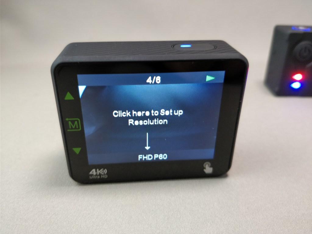 Andoer 4K タッチパネル式 アクションカメラ AN1 本体 ディスプレイ