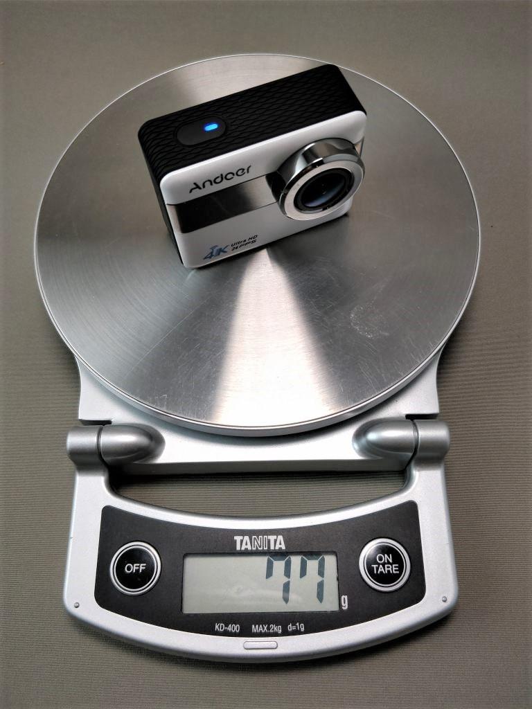 Andoer 4K タッチパネル式 アクションカメラ AN1 本体 重量