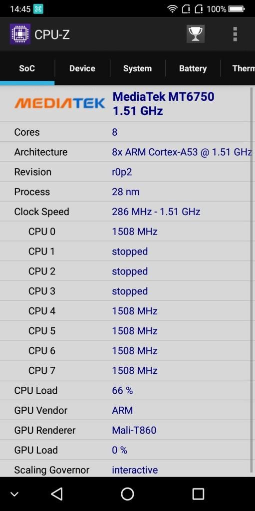 BLUBOO S8 CPU-Z1