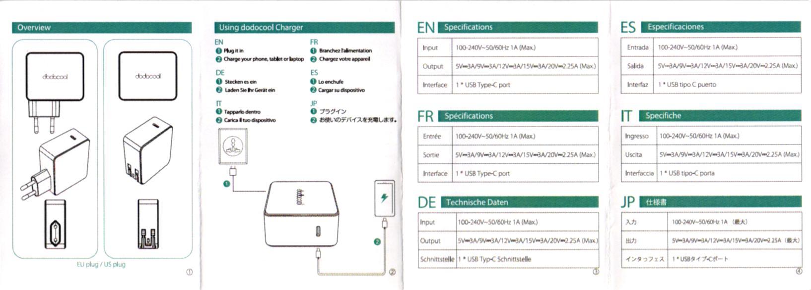 dodocool USB Type-Cアダプタ 取説2