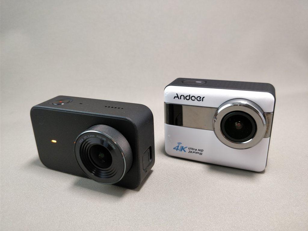 Xiaomi Mijia Camera Mini アクションカメラ  Andoer AN1 比較