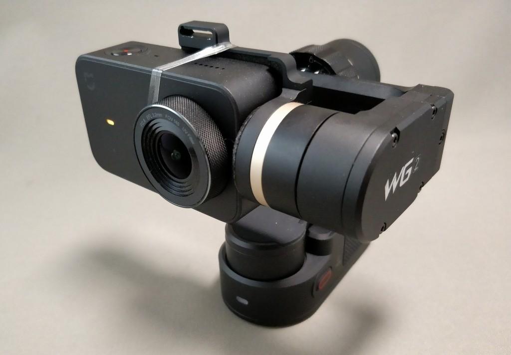 Xiaomi Mijia Camera Mini アクションカメラ  FeiyuTech WG2に装着
