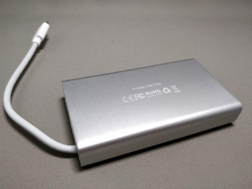 Aukey USB-C PD ハブ CB-C55 裏
