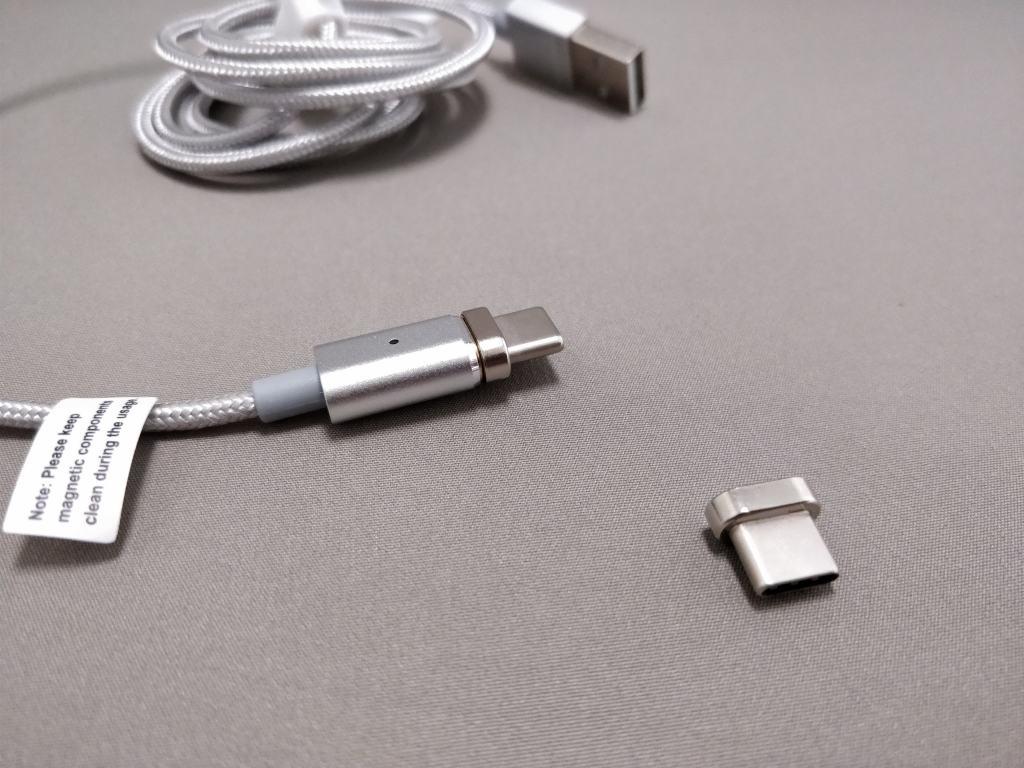 USB Type-C 磁力吸着 着脱式コネクタ&ケーブル コネクタ コネクタ2つ