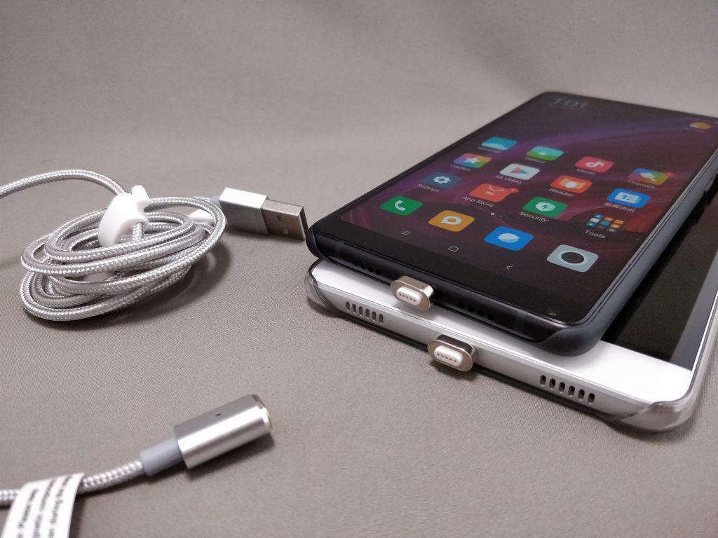 USB Type-C 磁力吸着 着脱式コネクタ&ケーブル コネクタ コネクタ2つ 2台