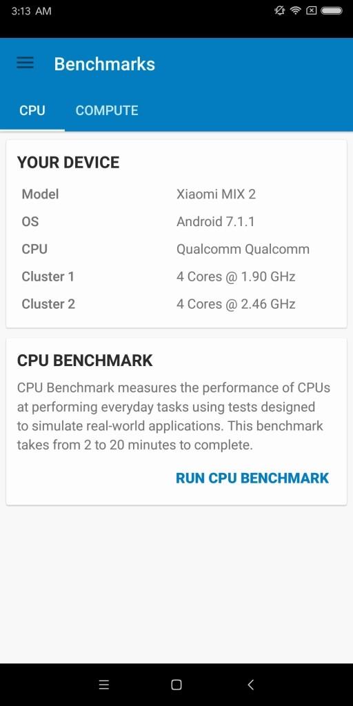 Xiaomi Mi MIX 2 Geekbench