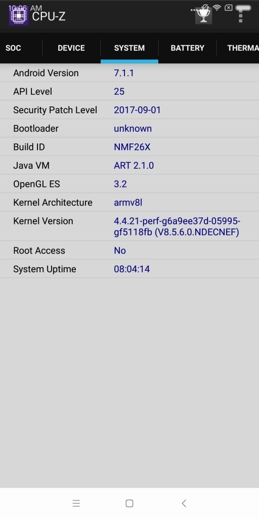 Xiaomi Mi MIX 2 CPU-Z 3