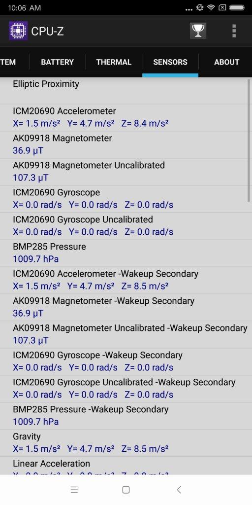 Xiaomi Mi MIX 2 CPU-Z 6