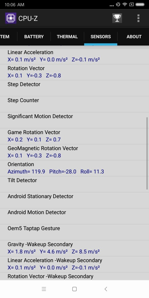 Xiaomi Mi MIX 2 CPU-Z 7