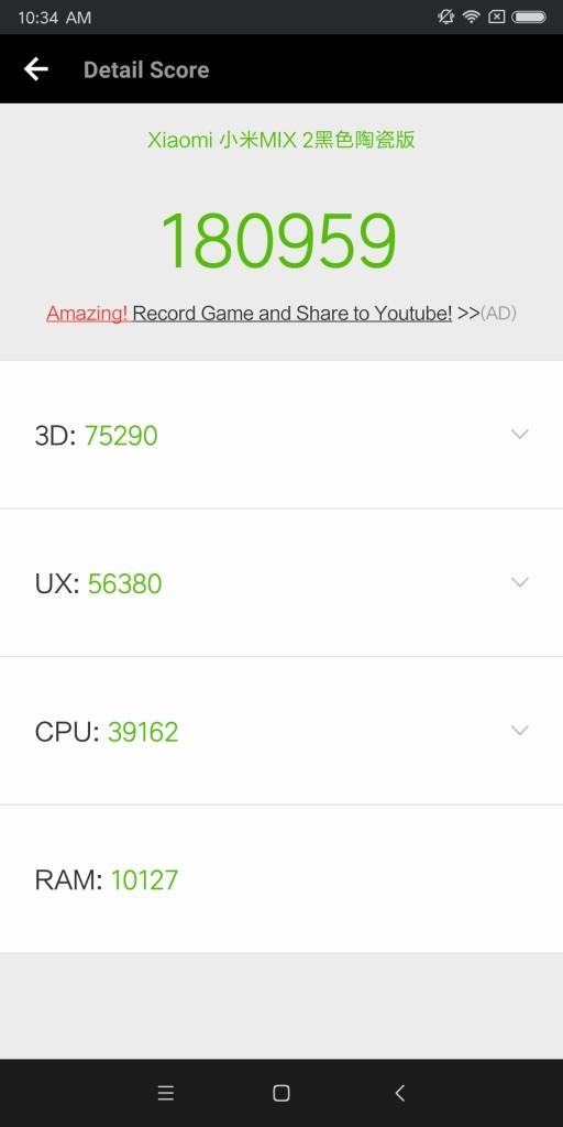 Xiaomi Mi MIX 2 Antutu180959
