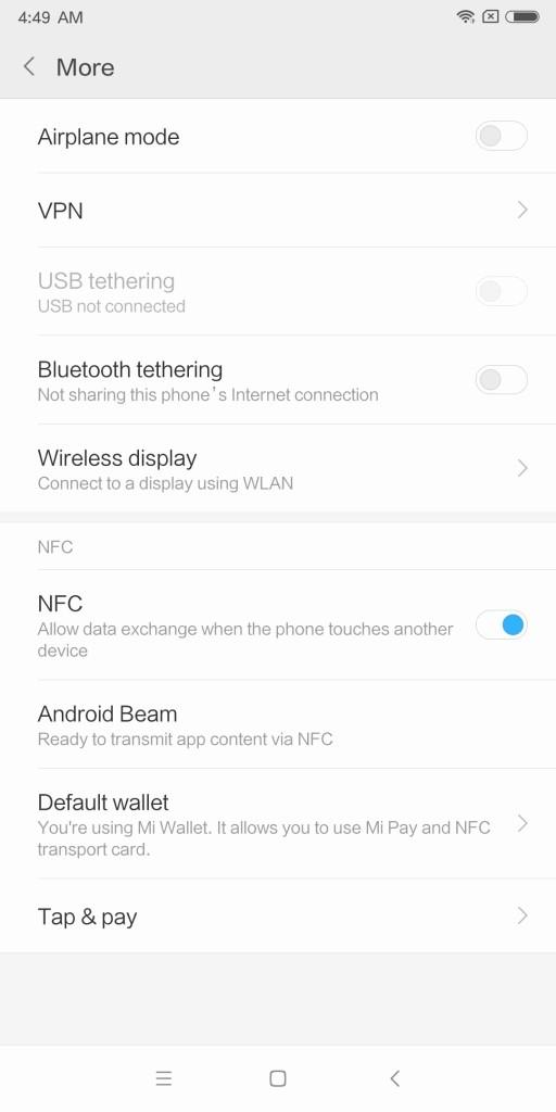 Xiaomi Mi MIX 2 Settings More