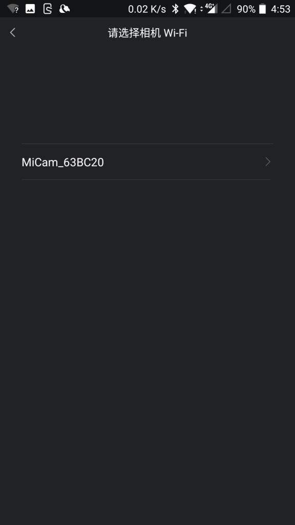 Xiaomi Mijia Camera Mini アクションカメラ Wifi接続 見つけられて