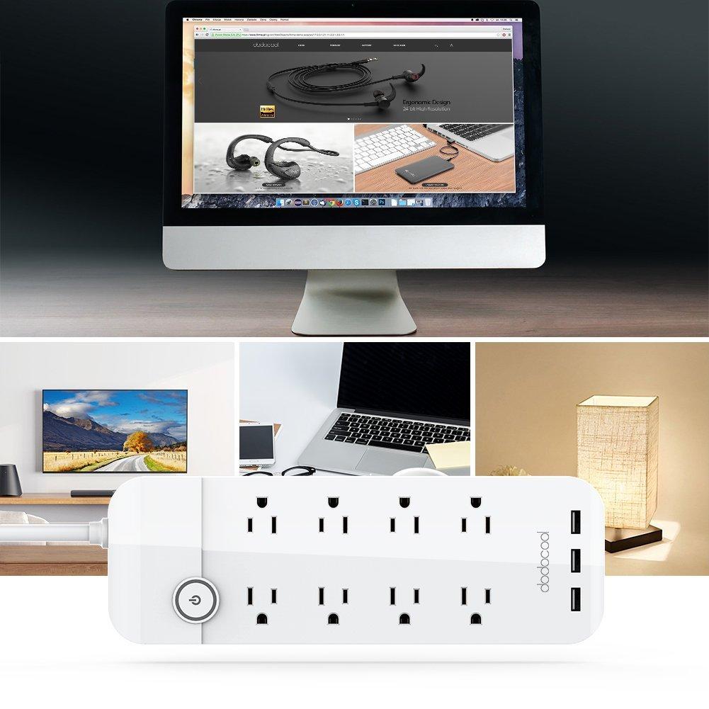 dodocool コンセント8口+USB充電ポート3口 電源タップ 商品画像