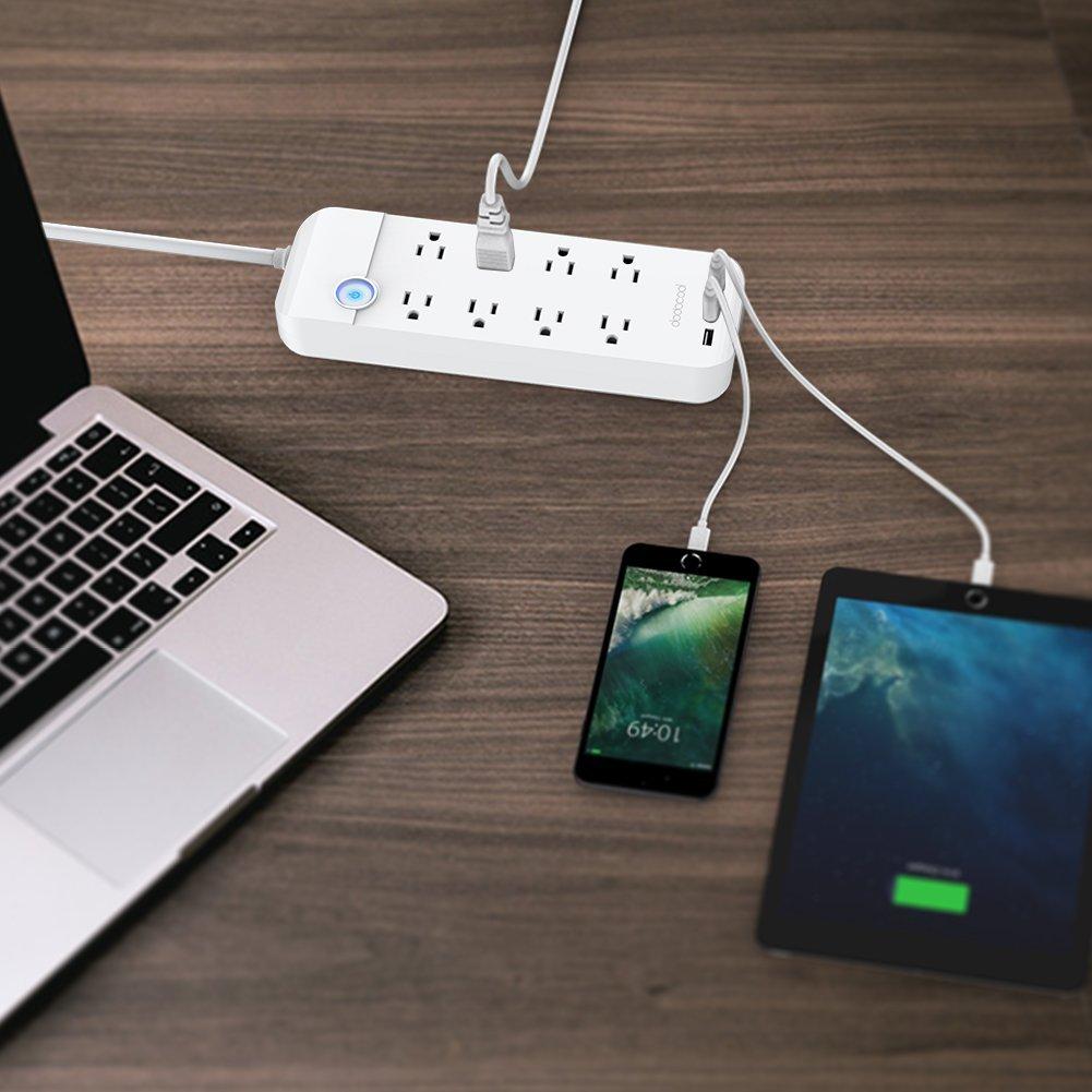 dodocool コンセント8口+USB充電ポート3口 電源タップ 商品画像 大量端末